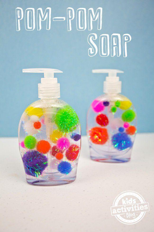 25 pom pom crafts for kids for Soap craft for kids