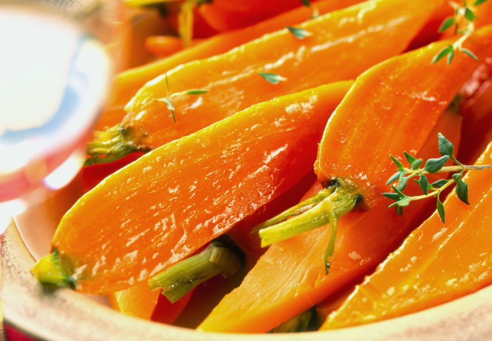 glazed carrots with herbs