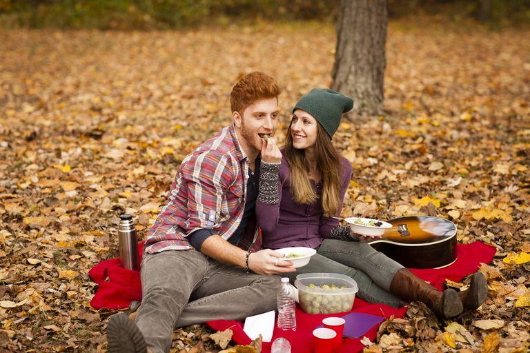 Couple on a picnic.