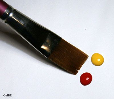 Decorative Painting Loading a Brush with Two Colors