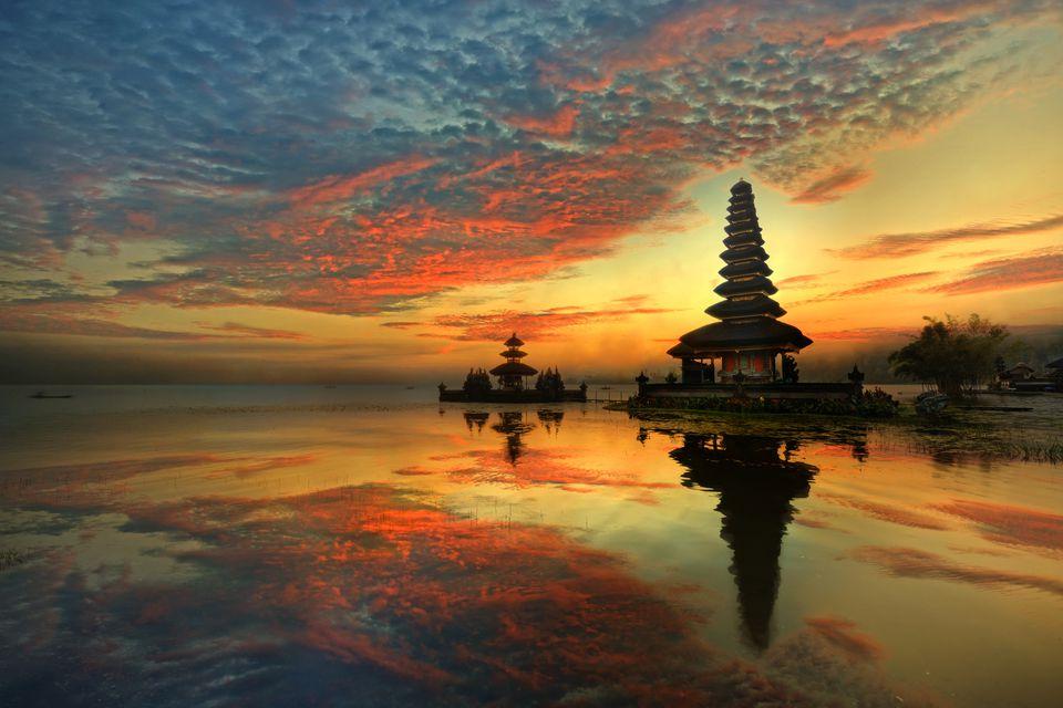 Pura Ulun Danu Bratan Water Temple in Bali