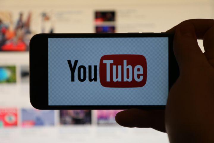 YouTube Logo Over Desktop