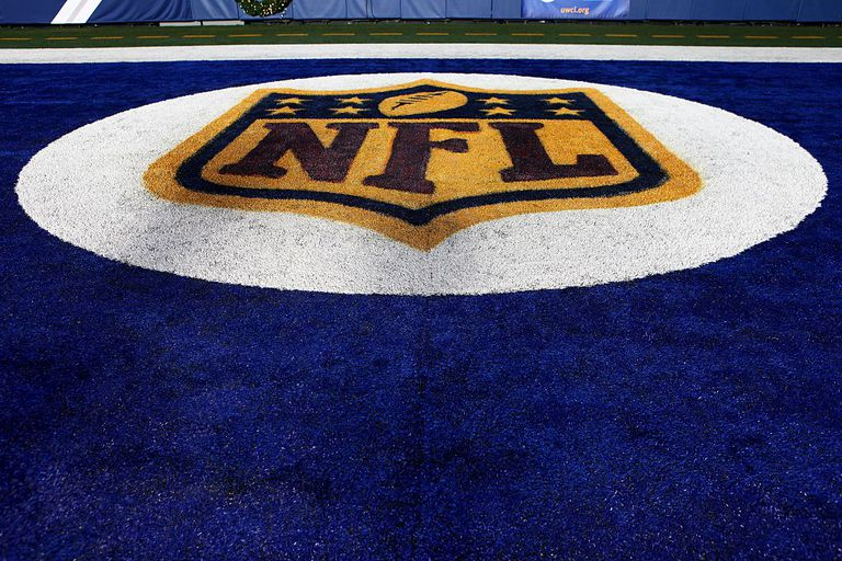 NFL logo on football field
