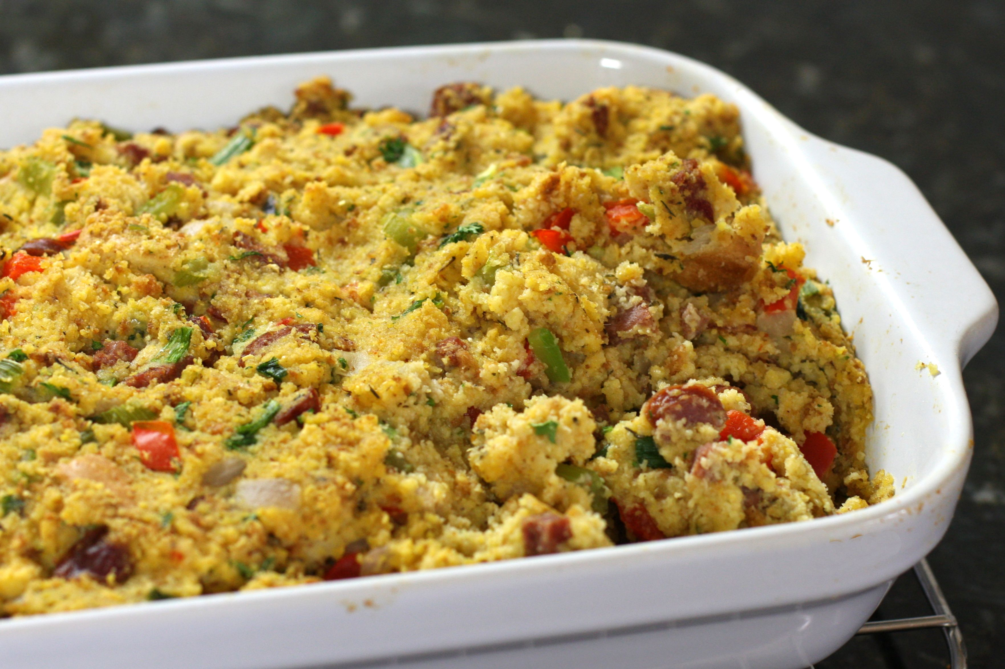 Moist sausage dressing recipe make this cajun style cornbread dressing a new holiday tradition forumfinder Image collections