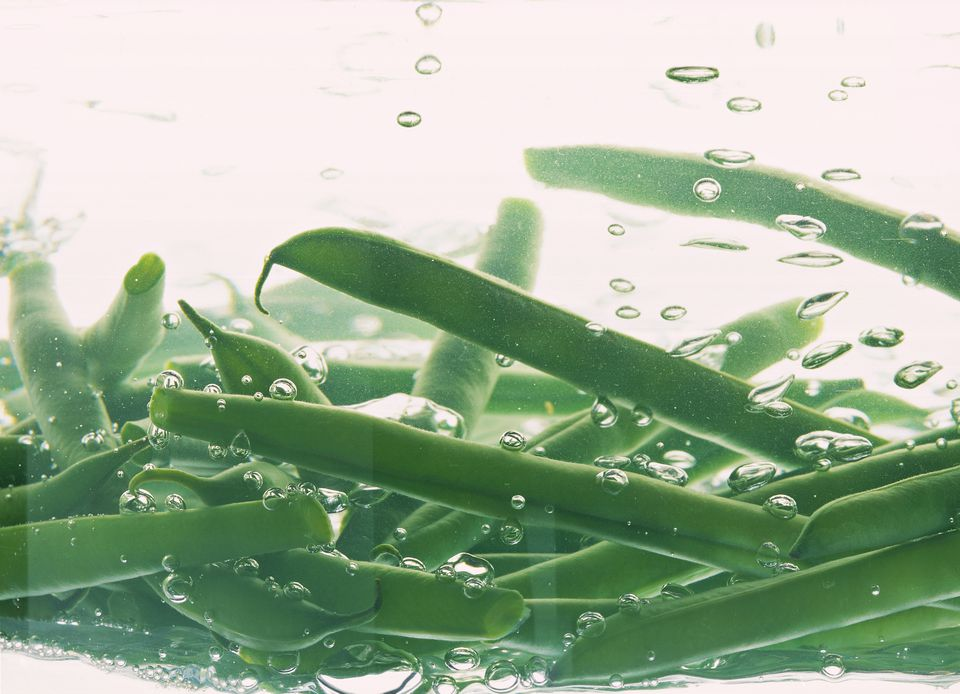 Green Beans in Boiling Water