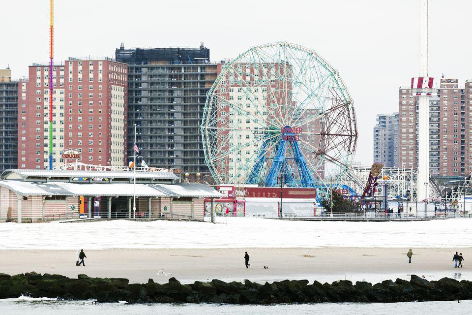 Coney island winter