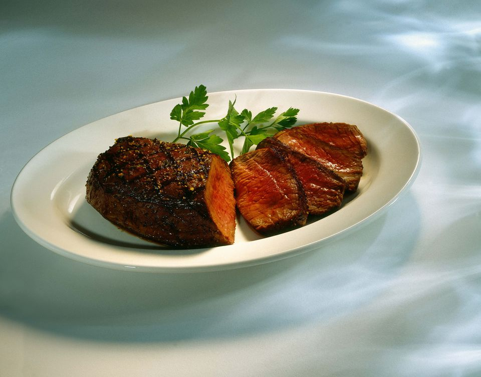 Top sirloin with slices