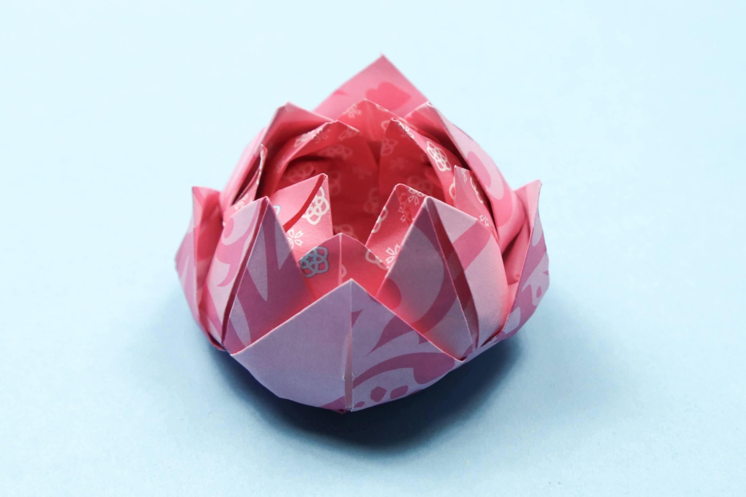 Easy origami lotus instructions izmirmasajfo Image collections