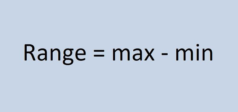 Formula for the range in statistics