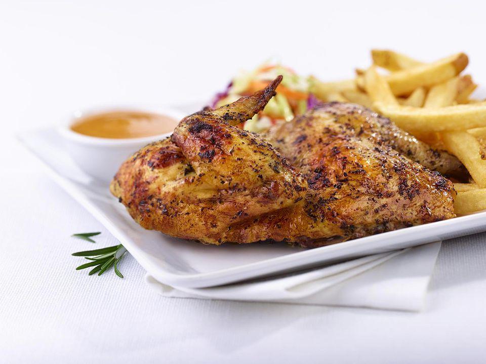 Roast Chicken With Garlic Herbed Butter