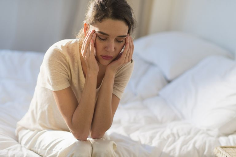 A woman feeling guilty after a pregnancy loss.