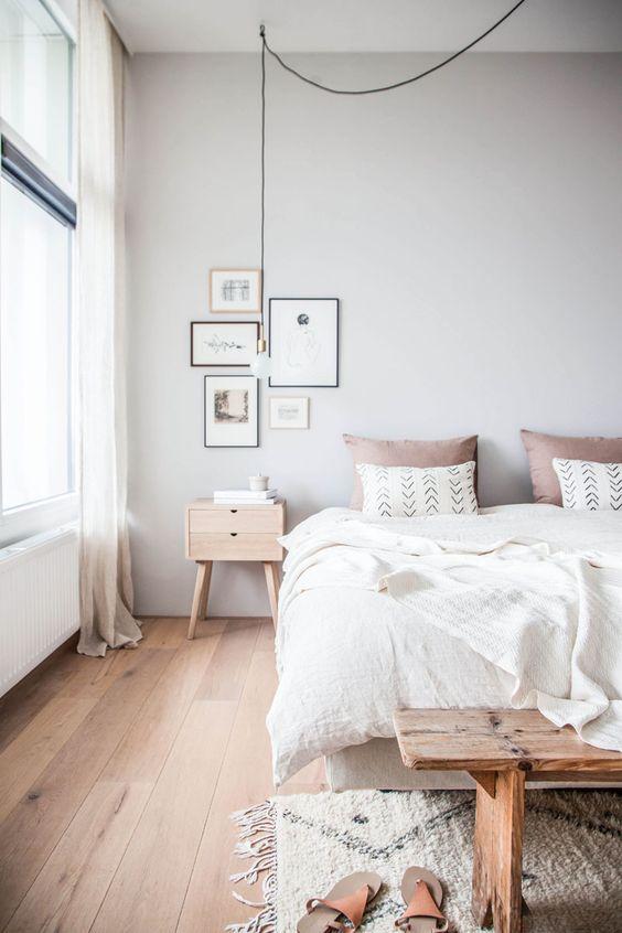 Bedroom with Scandinavian design