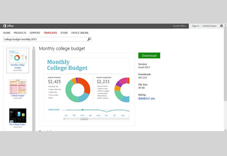 microsoft excel budgeting templates