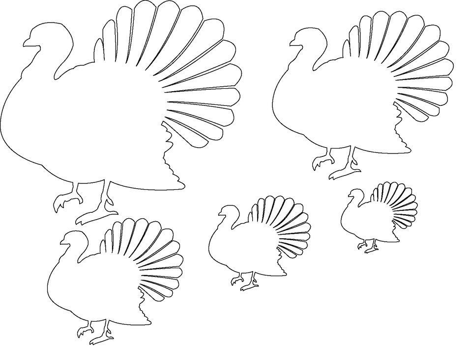 12 free printable templates for Blank turkey template