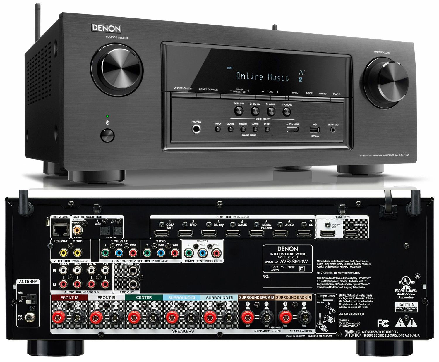 denon unveils avr s710w and avr s910w s series receivers. Black Bedroom Furniture Sets. Home Design Ideas