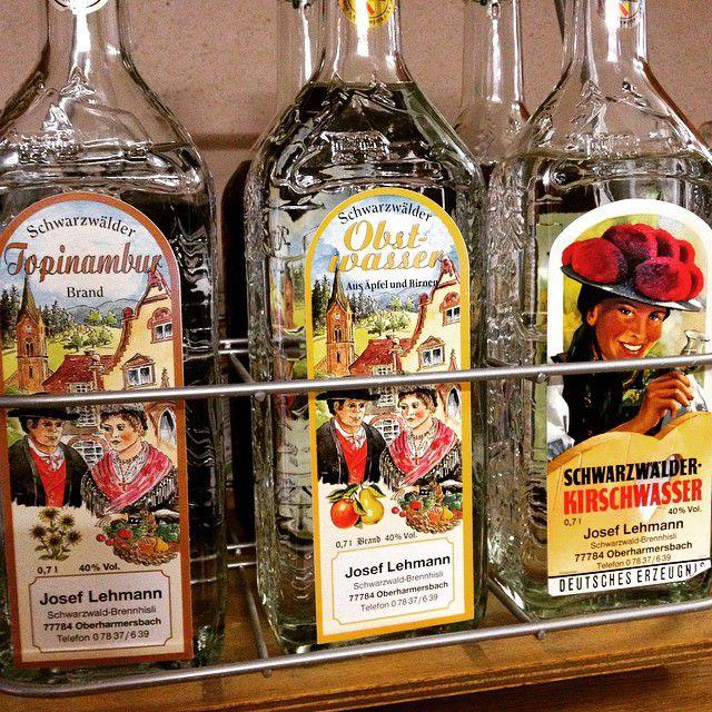 Kirschwasser bottles