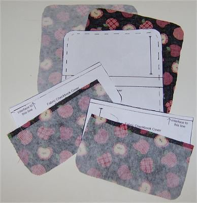 Materials & Cutting for a Fabric Checkbook Cover
