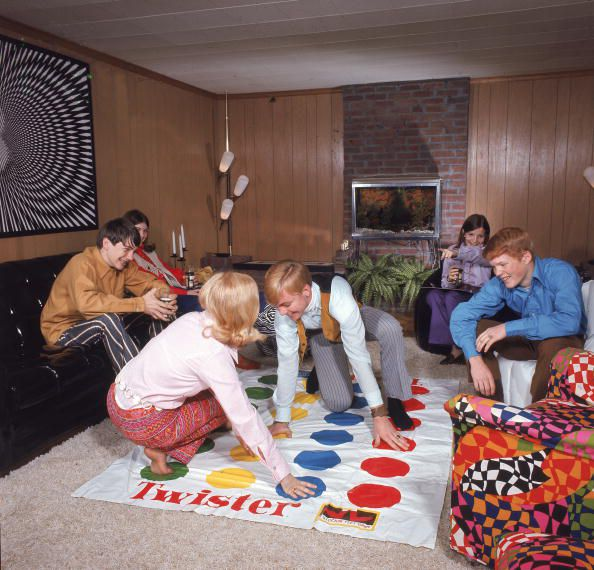 Boys And Girls Playing Twister