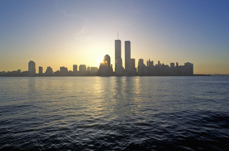Skyline of New York City, Twin Towers, Taken from New Jersey