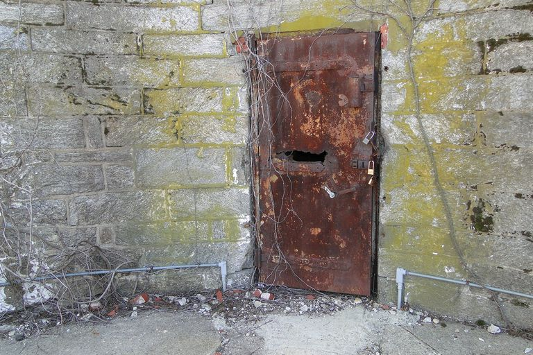 Rusted door at Eastern State Penitentiary