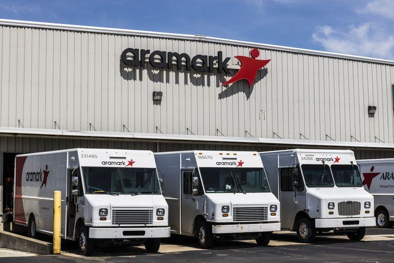 Aramark building with trucks