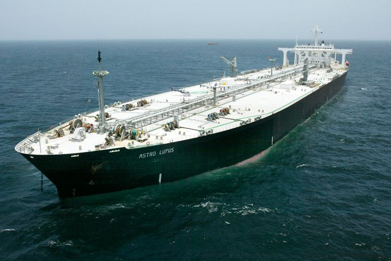 A Russian super tanker bringing oil to the United States