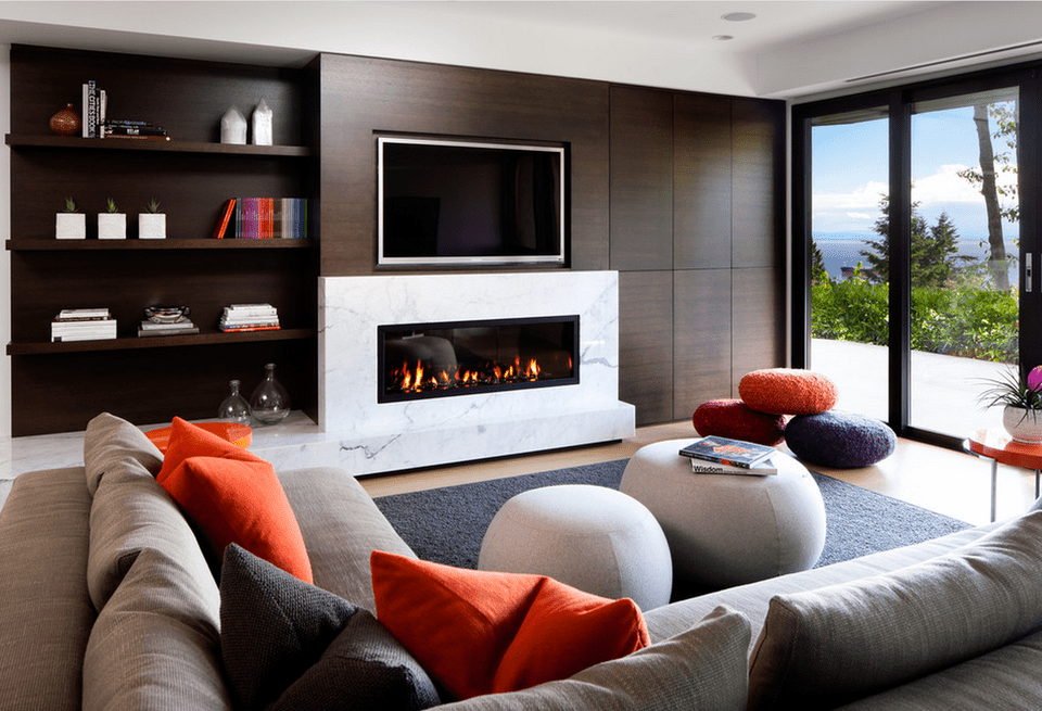 Modern Fireplace Living Room