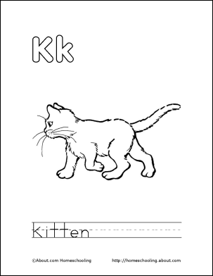 Letter K Coloring Book - Free Printable Pages