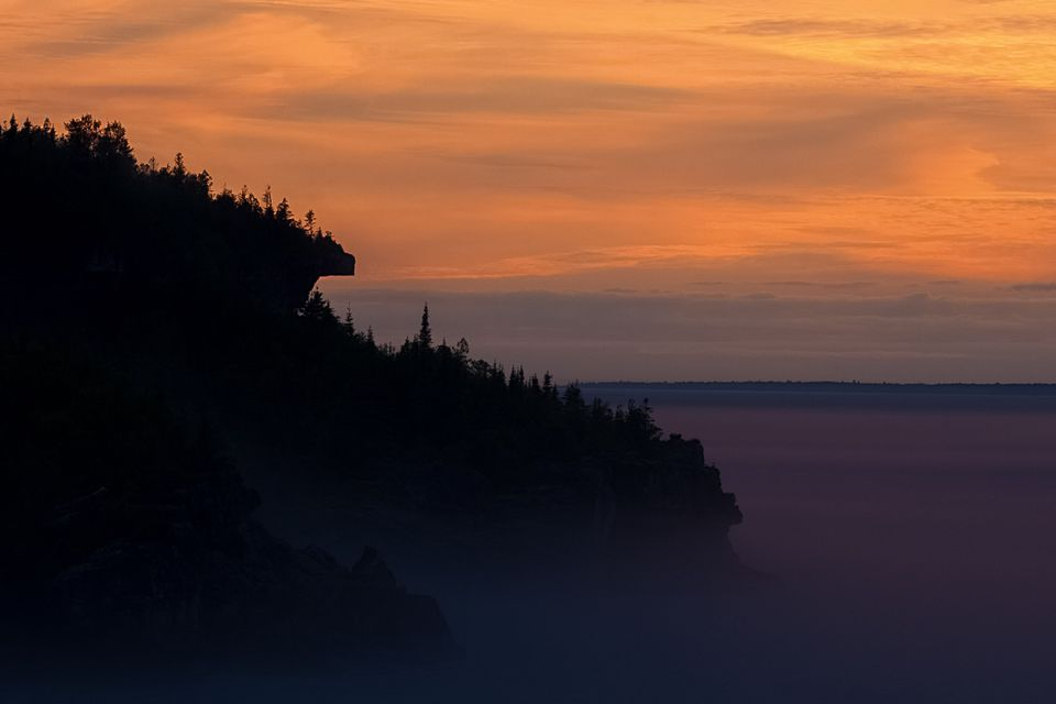 Bruce Peninsula at sunset.