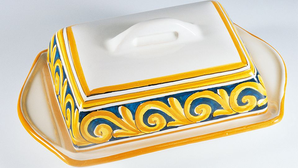 How to make a ceramic butter dish