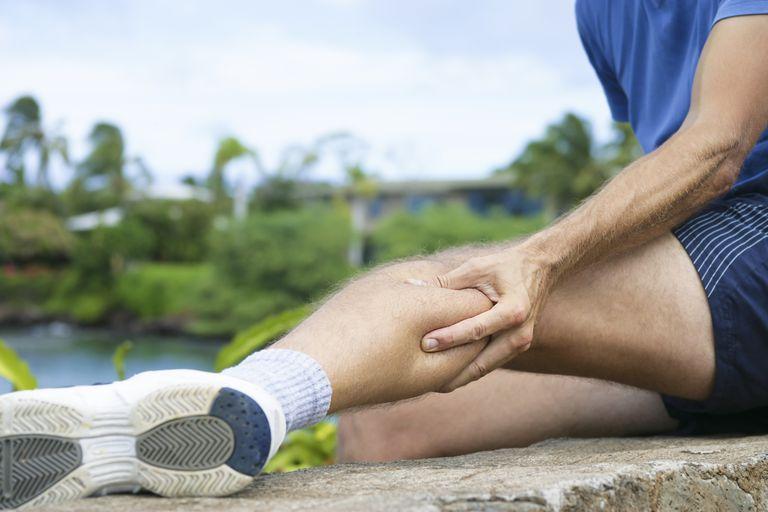 Jogger with Leg Cramp