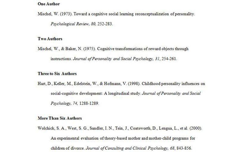 apa journal format example 2 authors: always cite both authors' names in-text everytime you reference them  example: johnson and smith (2009) found.
