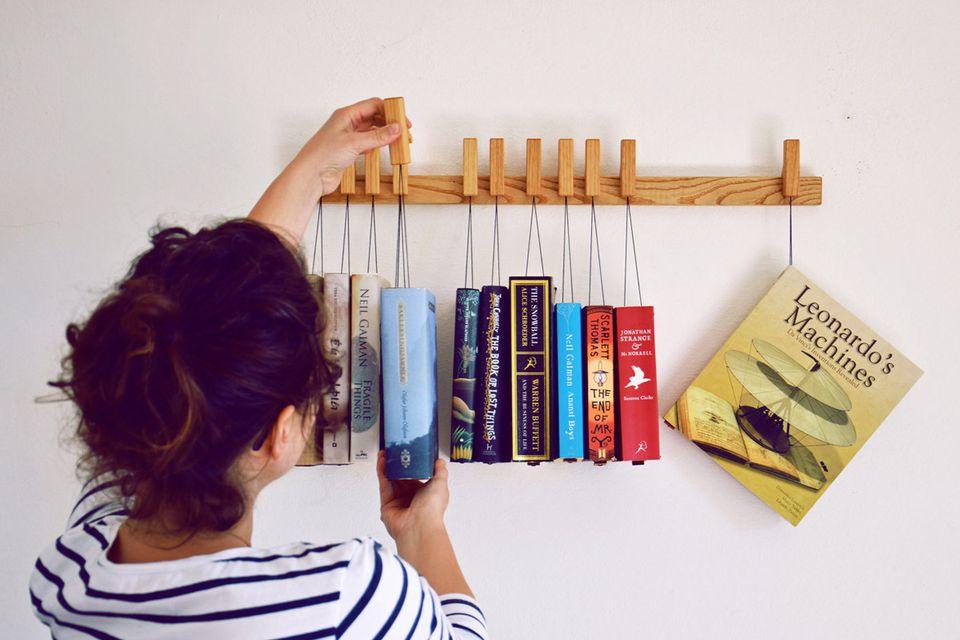 Wall Mounted Hanging Book Rack