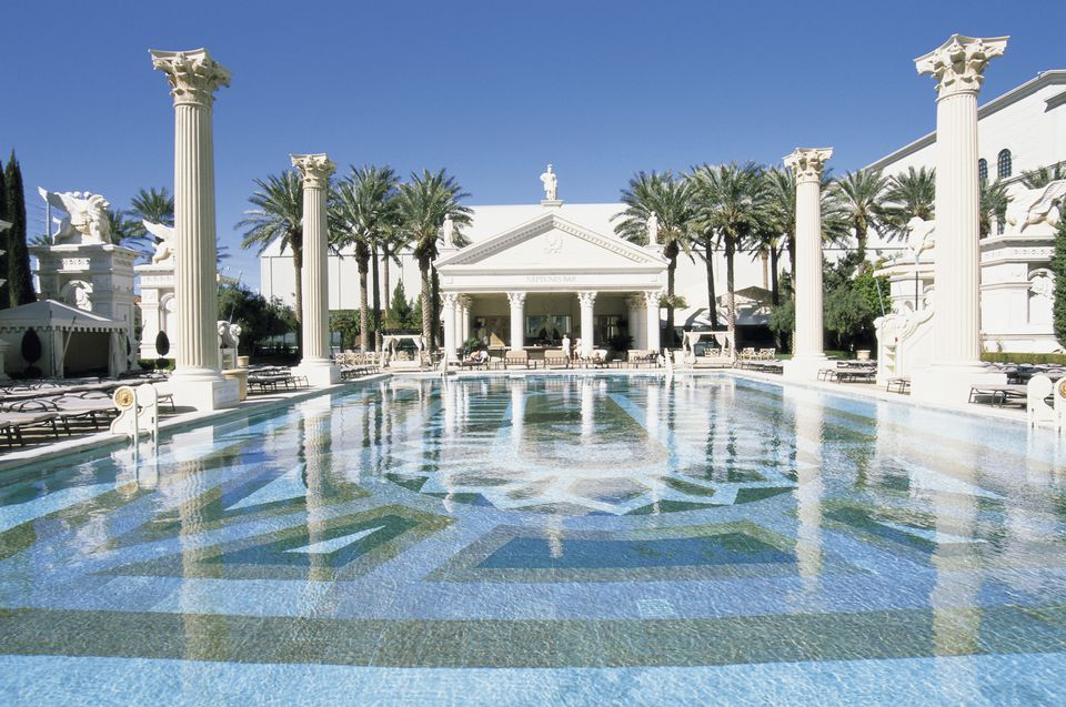 Swimming Pool,Caesar's Palace Hotel & Casino,Las Vegas,Nevada,USA