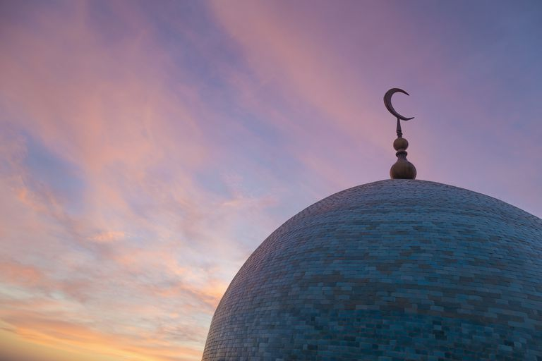 Dome of mosque at dusk