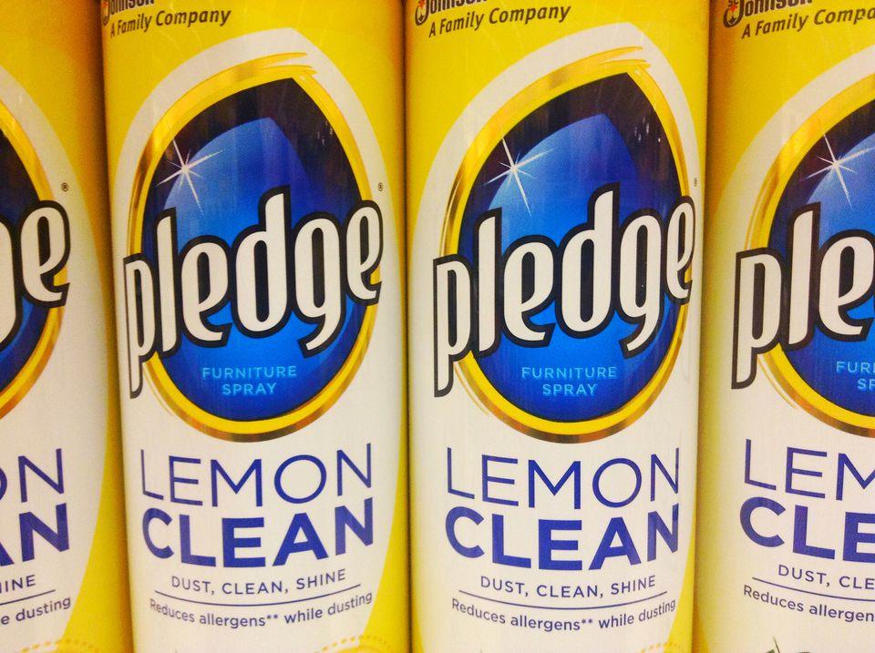 Lemon Pledge Johnson wax furniture polish