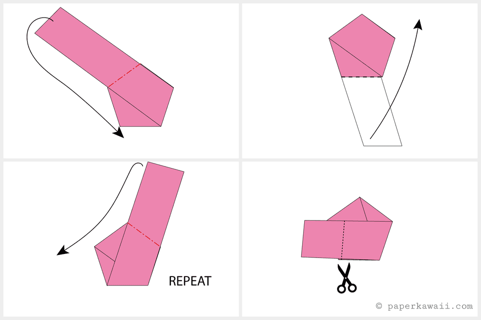 how to make origami lucky stars step by step