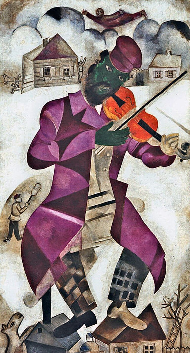 The Green Violinist by Marc Chagall