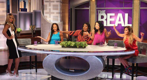 The Real hosts Adrienne Bailon, Jeannie Mai, Loni Love, Tamar Braxton, and Tamera Mowry-Housley.