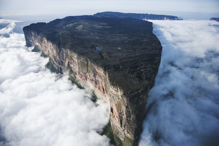 Mount Roraima, the border between Venezuela, Guyana and Brazil.