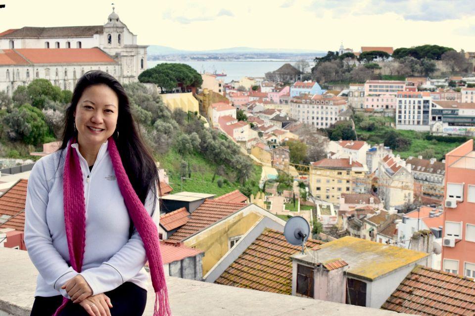 Mai Pham, Houston's Femme Foodie, in Lisbon, Portugal