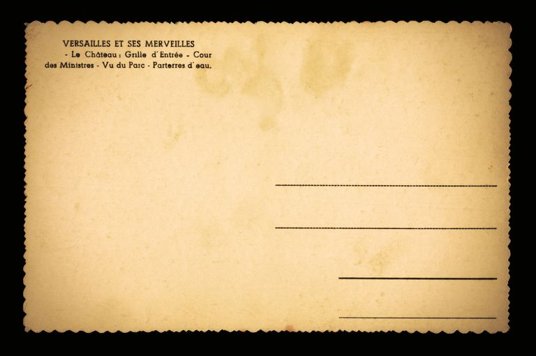 Old deckle-edged blank French postcard