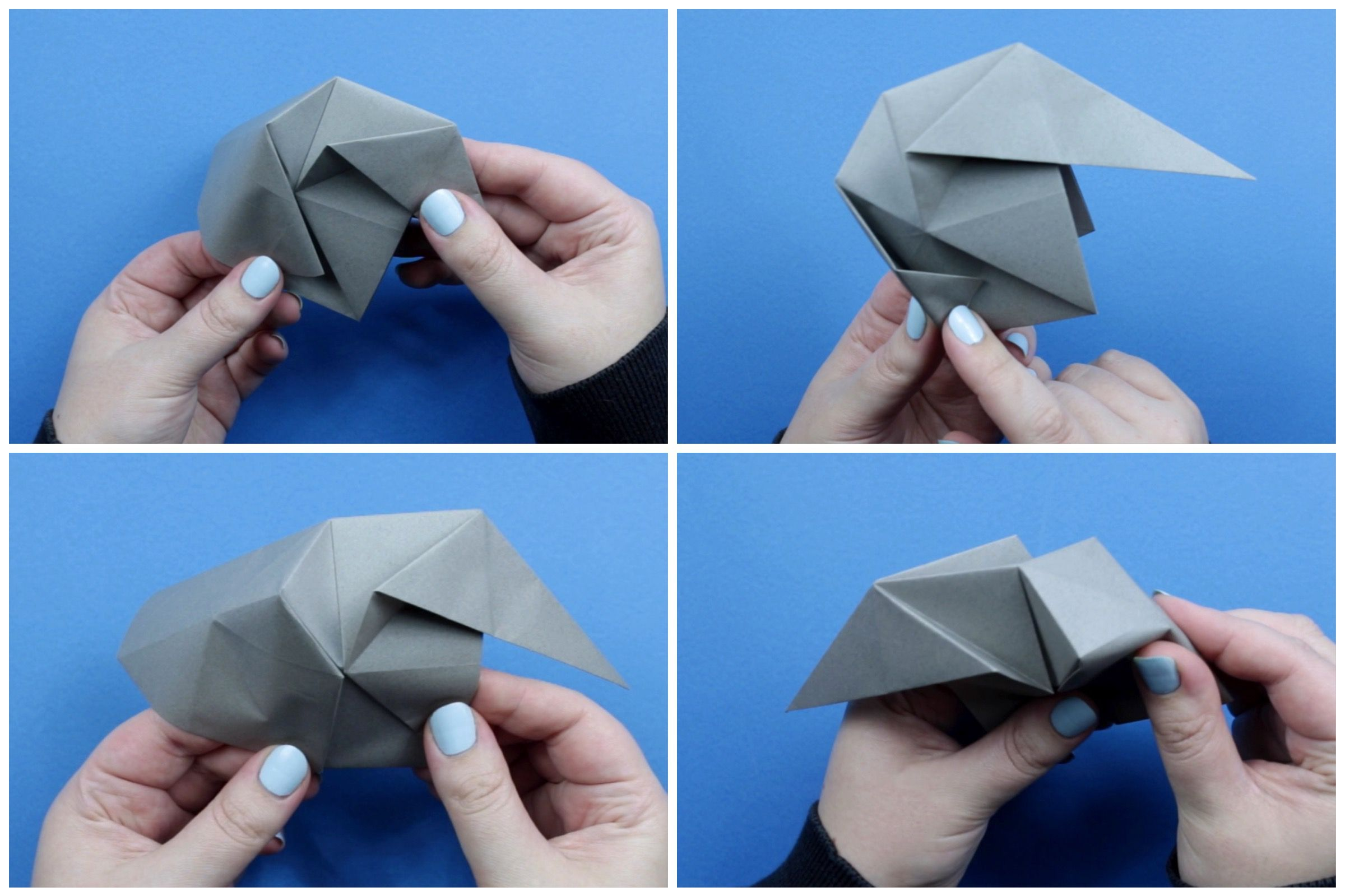 Easy Origami: Elephant Face | Paper Origami Guide | 1599x2400