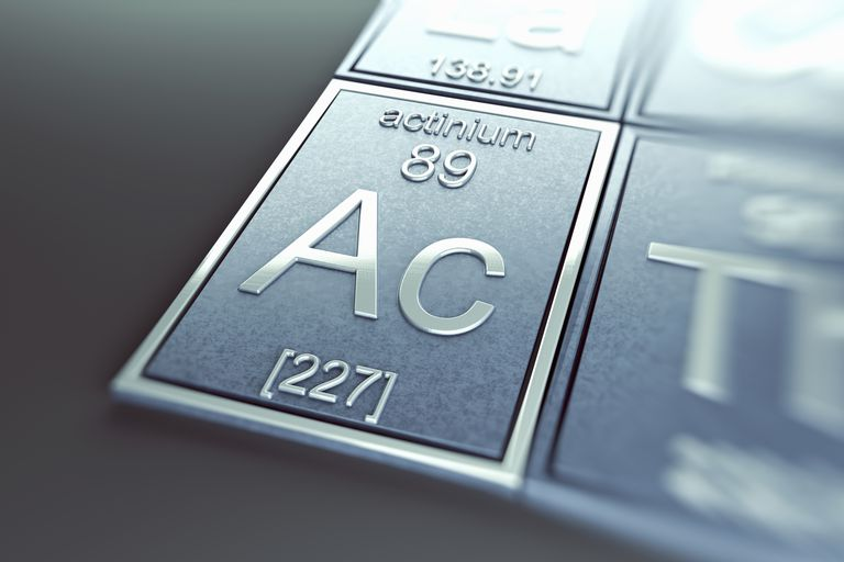 Actinium is a radioactive metal and the first element in the actinide element group.