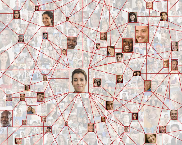 Network of face photos