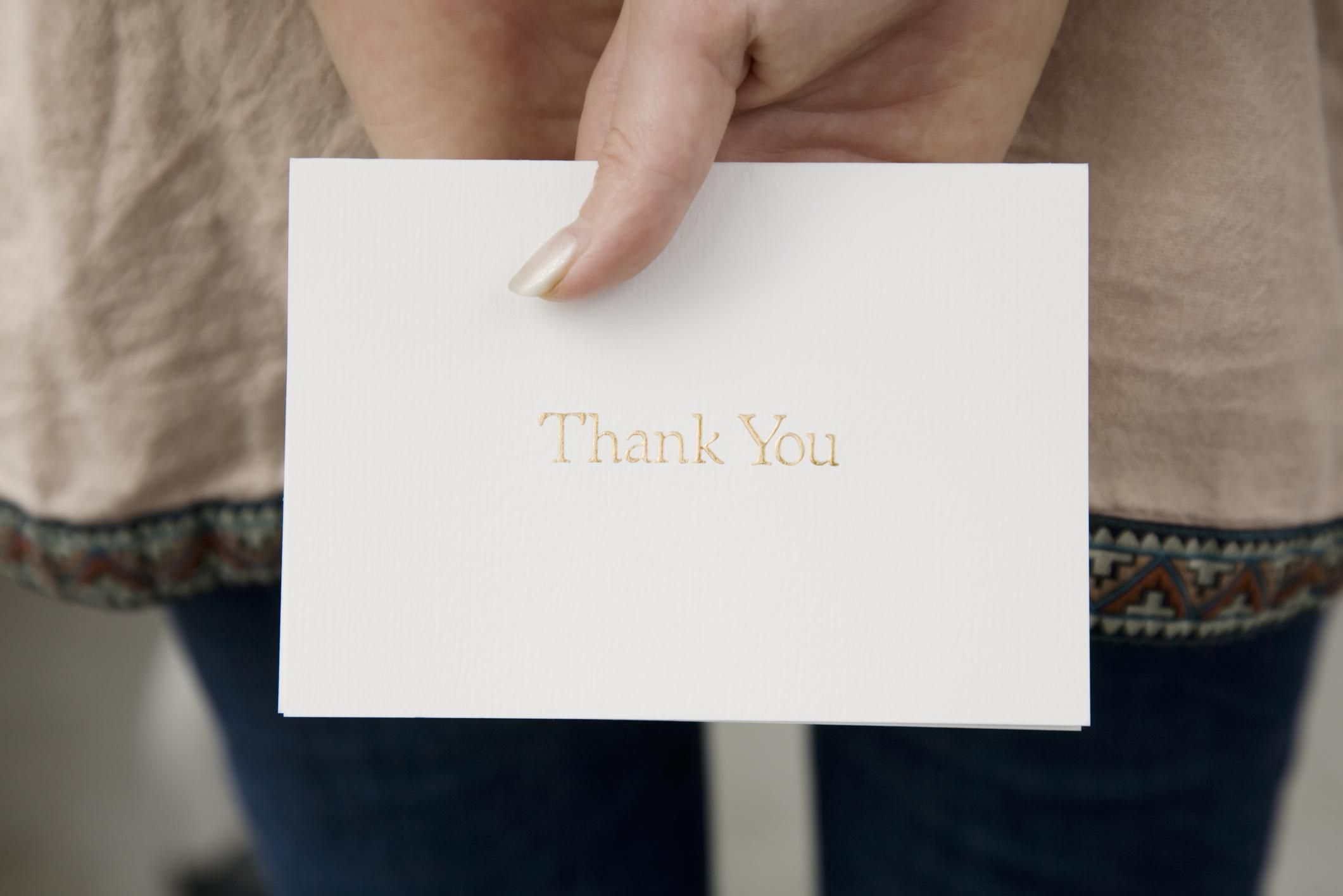 Sample Thank You Note To Rejection Internship Or Job