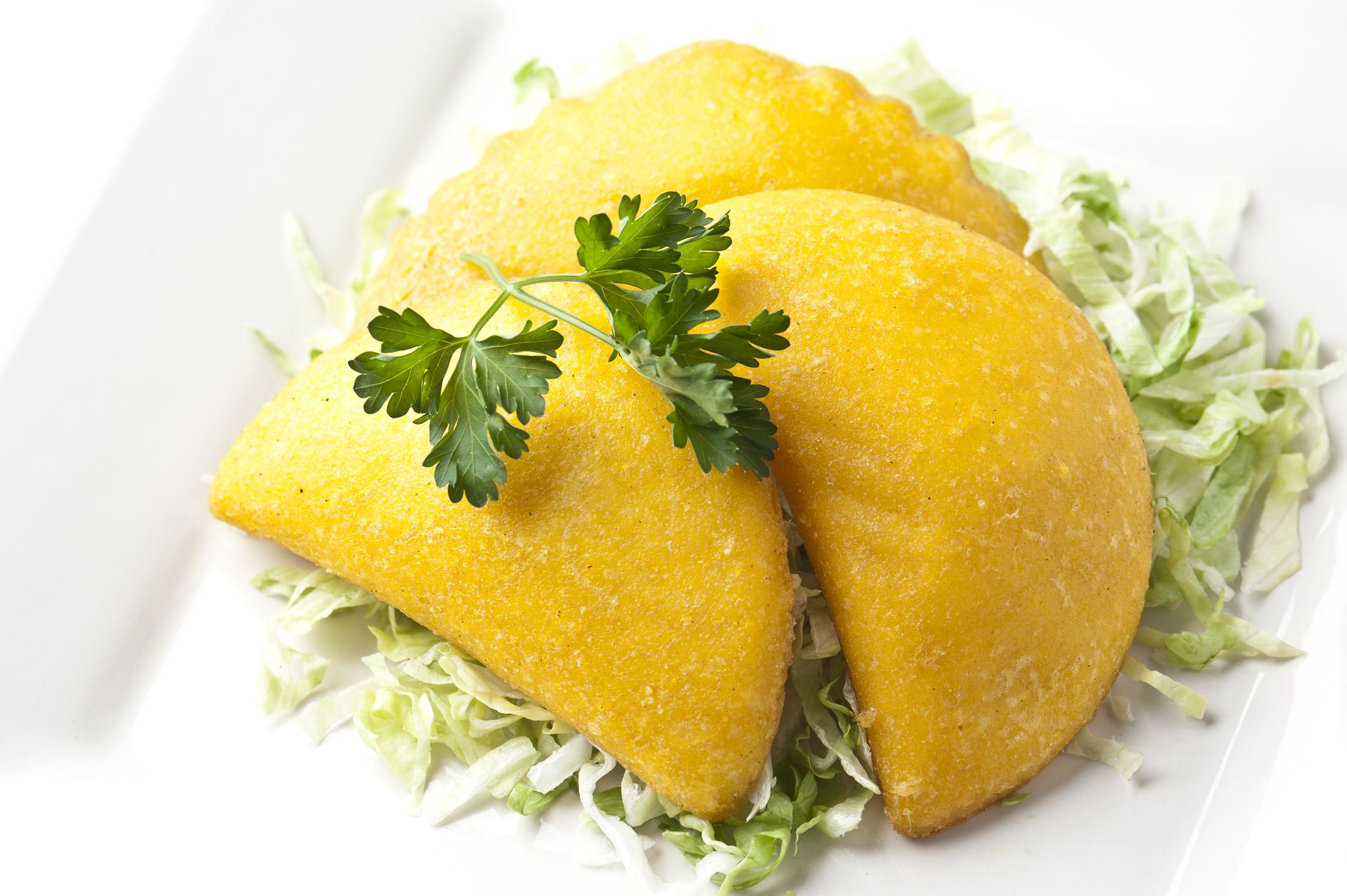colombian fried empanadas with beef and potato filling