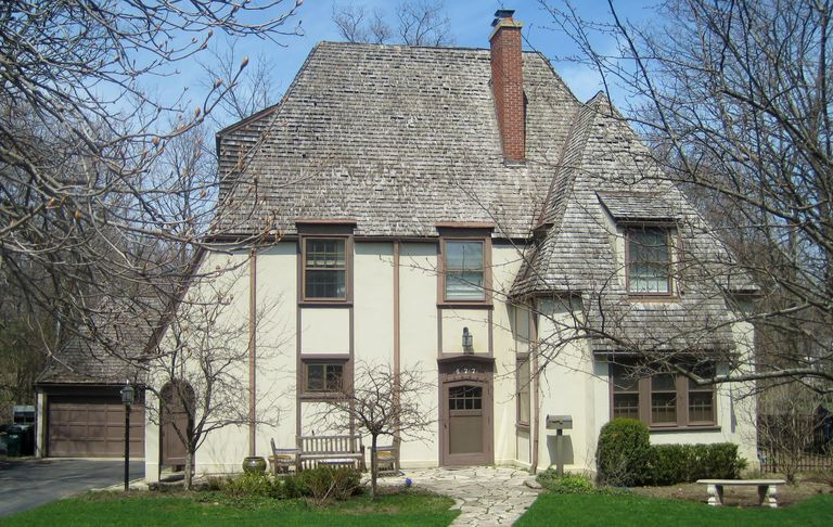 French Eclectic Style, circa 1925, Highland Park, Illinois