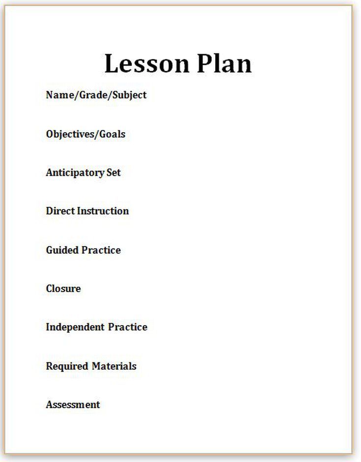 Lesson Plan Closure Examples For Educators - Learning cycle lesson plan template