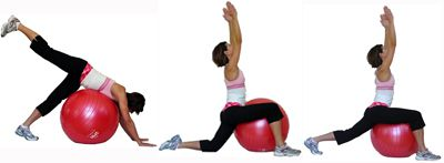 Yoga Low Lunge to High Lunge on the Ball